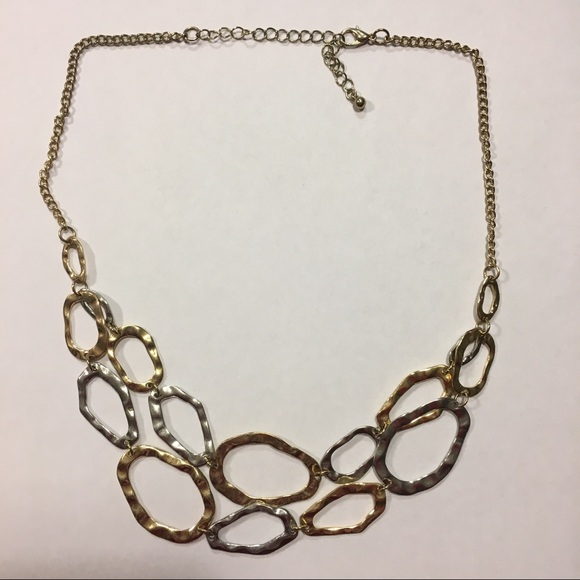 Jewelry - Silver and Gold Loop Necklace